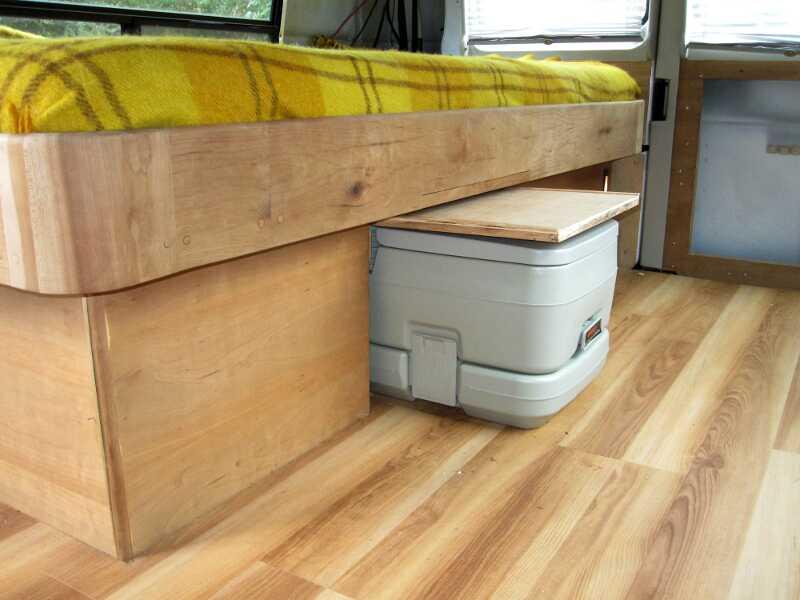 Cargo Van Conversion Toilet Access Door
