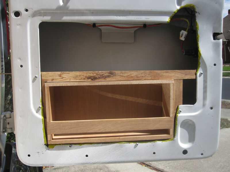 Van Conversion Door Cabinetry And Finish
