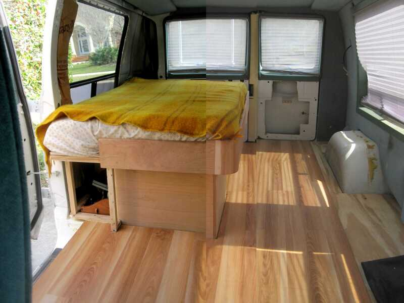 Vinyl Cargo Van Conversion
