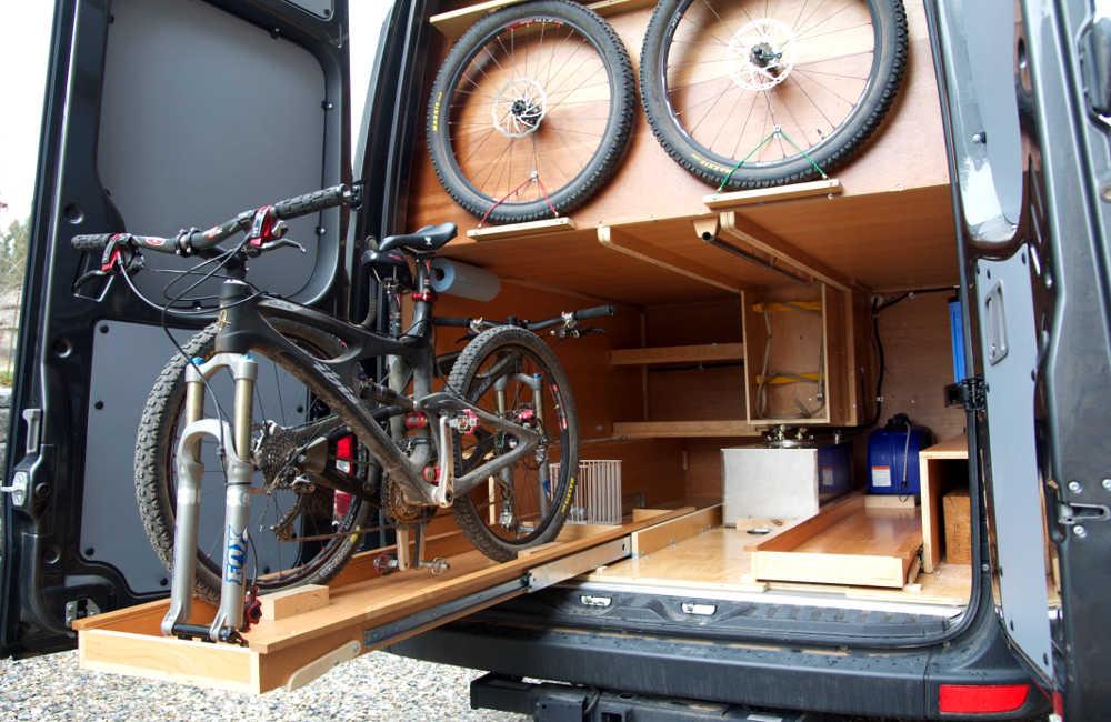 Bike Storage Cargo Van Conversion