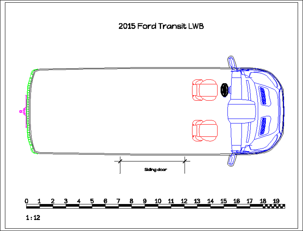 2015 ford transit lwb cargo van conversion for Van ply lining templates