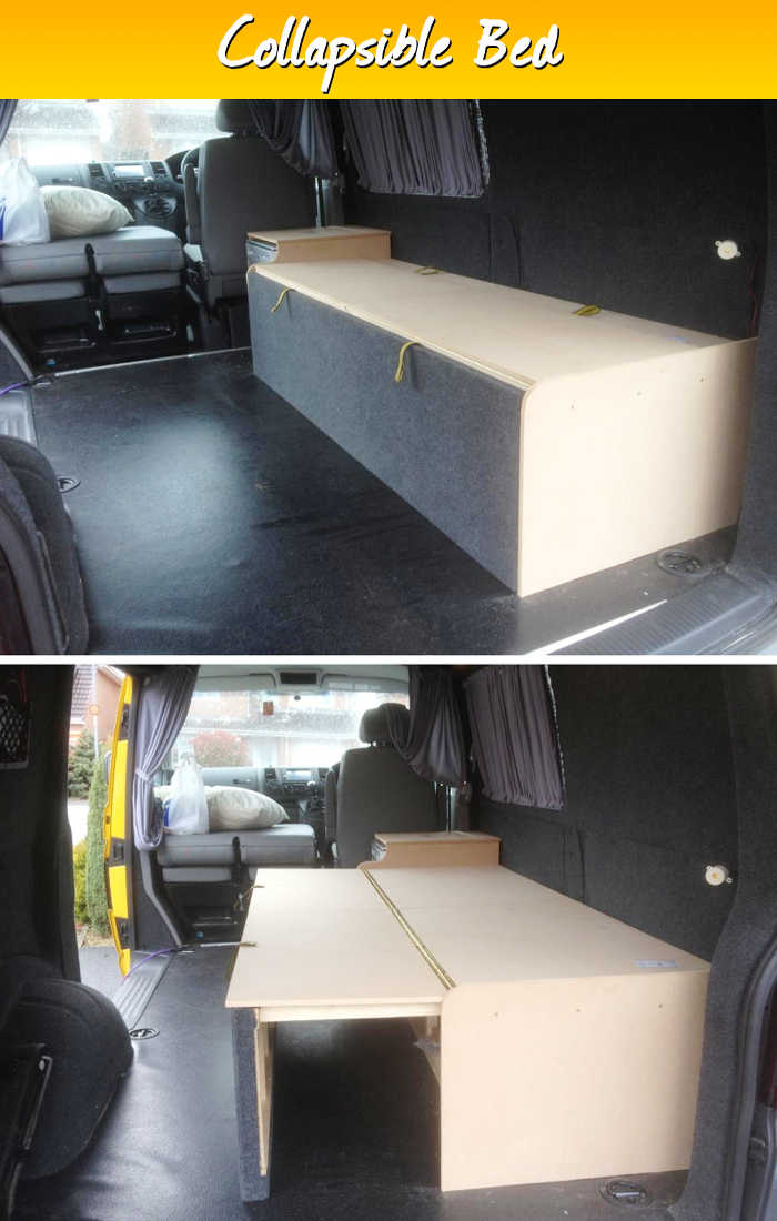 Collapsible Bed By Yellowduke Cargo Van Conversion